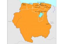 Suriname vraagt Nederland opheldering vanwege gebruik verkeerde landkaart