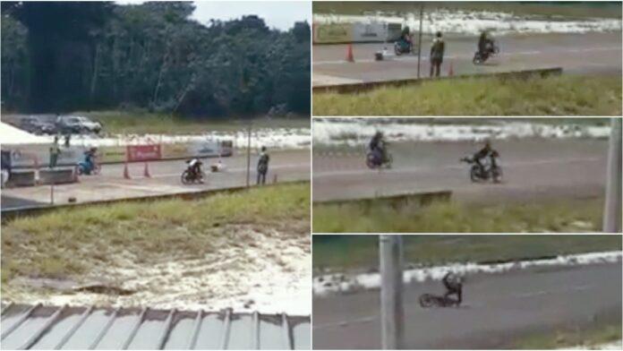 Bromfietser valt bij racewedstrijd Suriname Motorsport Park