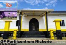 Pand in Nickerie transformeert van NDP naar VHP en nu naar ABOP centrum