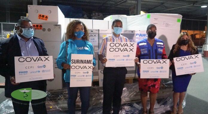 Suriname krijgt eerste partij vaccins uit Covax-programma