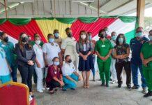 First lady brengt hulde aan personeel MMC en gedenkt huishoudens Nickerie