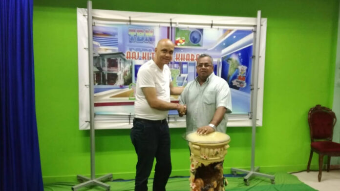 Samenwerking Natraj TV Nederland met Trishul TBN Suriname