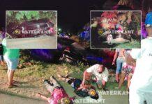 Zware aanrijding meerzorg: 2 auto's in water en 4 gewonden