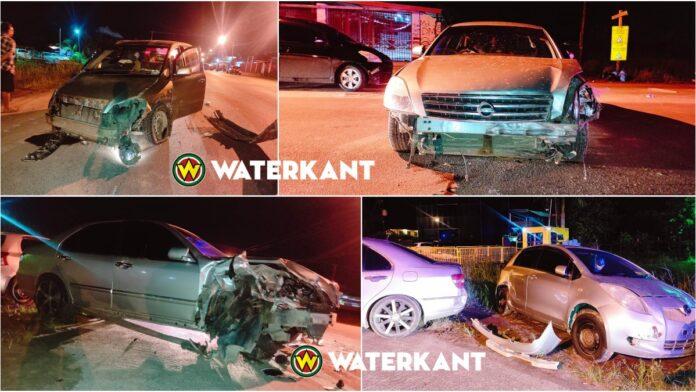 Aanrijding tussen 4 auto's en bromfiets tijdens lockdown