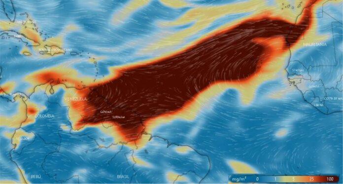 Vulkaanuitbarsting heeft mogelijk impact op Suriname