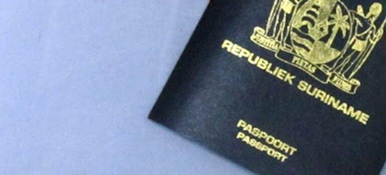 Speciale wet met betrekking tot paspoorten in Suriname