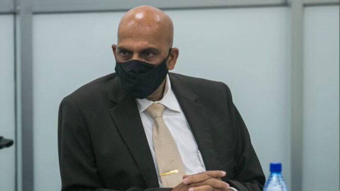 De Surinaamse minister van Financiën, Armand Achaibersing