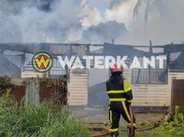 Buurtbewoners ontdekken brand in laagbouw woning