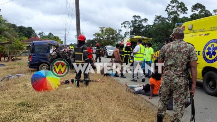 1 dode en 4 gewonden bij aanrijding Creola