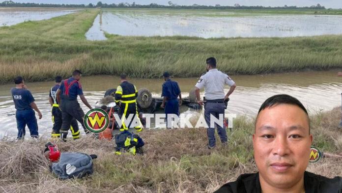 Automobilist Wenju Dong (46) overleden nadat hij te water raakte