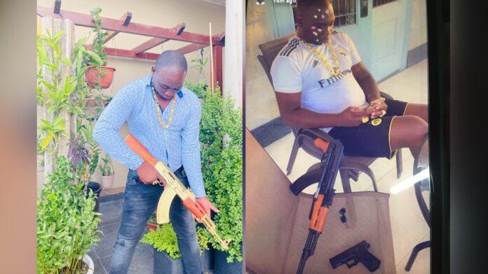Bordo laat zich graag fotograferen met wapens