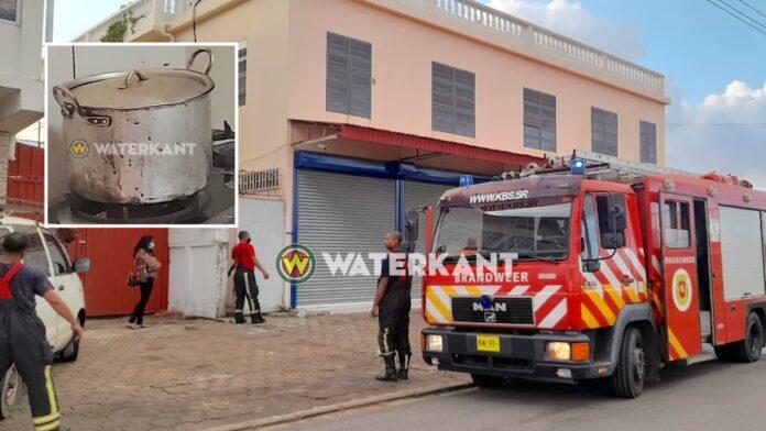 Brandweer rukt uit na rookontwikkeling; pot op vuur aangetroffen