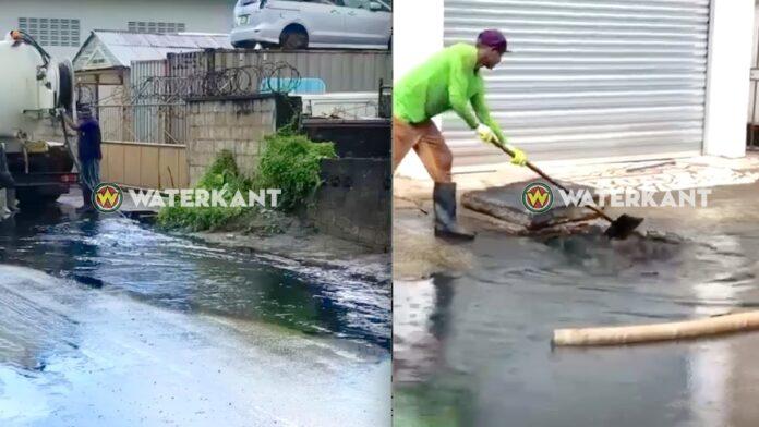 VIDEO: Grote hoeveelheid smeerolie in riolering