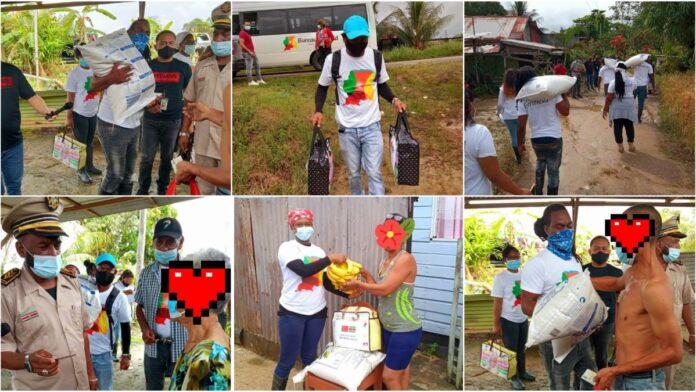 Bureau Eenheid gestart met distributie voedingspakketten in Commewijne