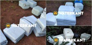 Foto's van ruim 400 kg cocaïne onderschept te Kaaimangrasi