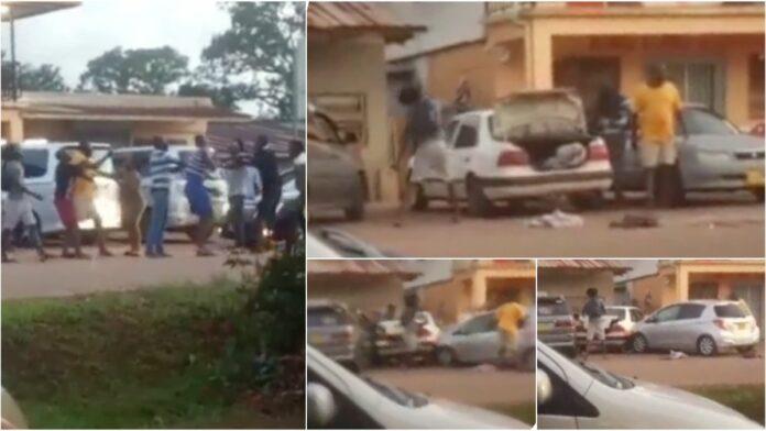 VIDEO: Man rijdt na ruzie in op personen in Moengo