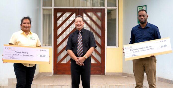 KALOTI Suriname Mint House doneert voor COVID bestrijding in werkgebied