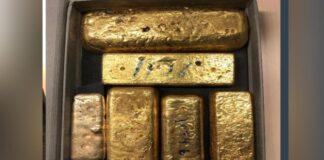 Italiaan uit Caribisch gebied met goudstaven in koffer aangehouden op Schiphol