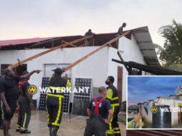 VIDEO: Opnieuw woningen beschadigd door hevige rukwind