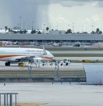 VIDEO: SLM vliegtuig opnieuw aan de ketting in Miami