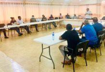Agrarische Adviesraad Saramacca vergadert met dc en LVV-ministe