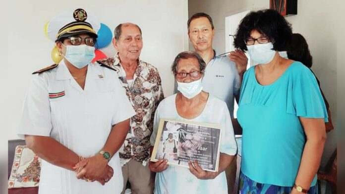 Oudste bewoner Nickerie 100 jaar Harriette Klaverweide