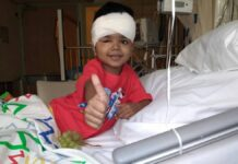 zieke 5-jarige Arush Lachan uit Suriname