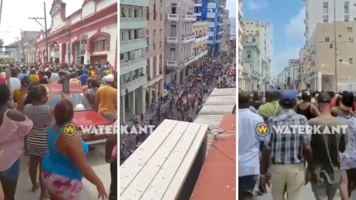 Duizenden Cubanen demonstreren tegen regime Cubaanse president