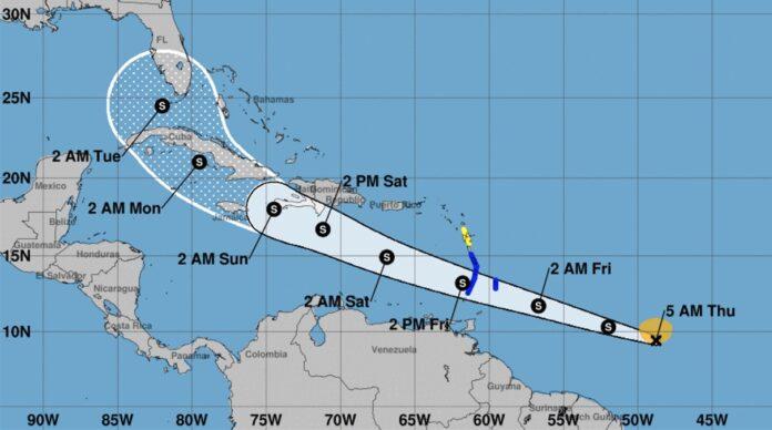 Tropische storm Elsa langs Suriname getrokken