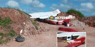 Cessna vliegtuig zwaar beschadigd na noodlanding te Para