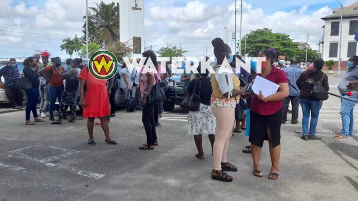 Protestactie Algemene Bond Personeel Milieubeheer in Suriname
