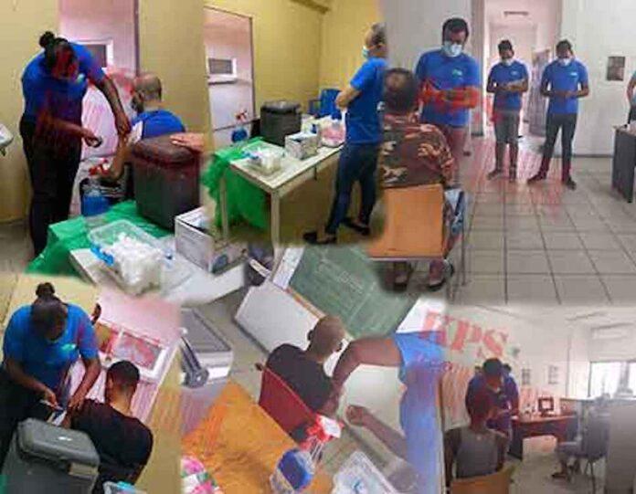 Arrestanten in politiecellenhuizen Suriname worden gevaccineerd