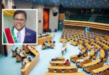 President Santokhi houdt unieke toespraak in Nederlandse parlement