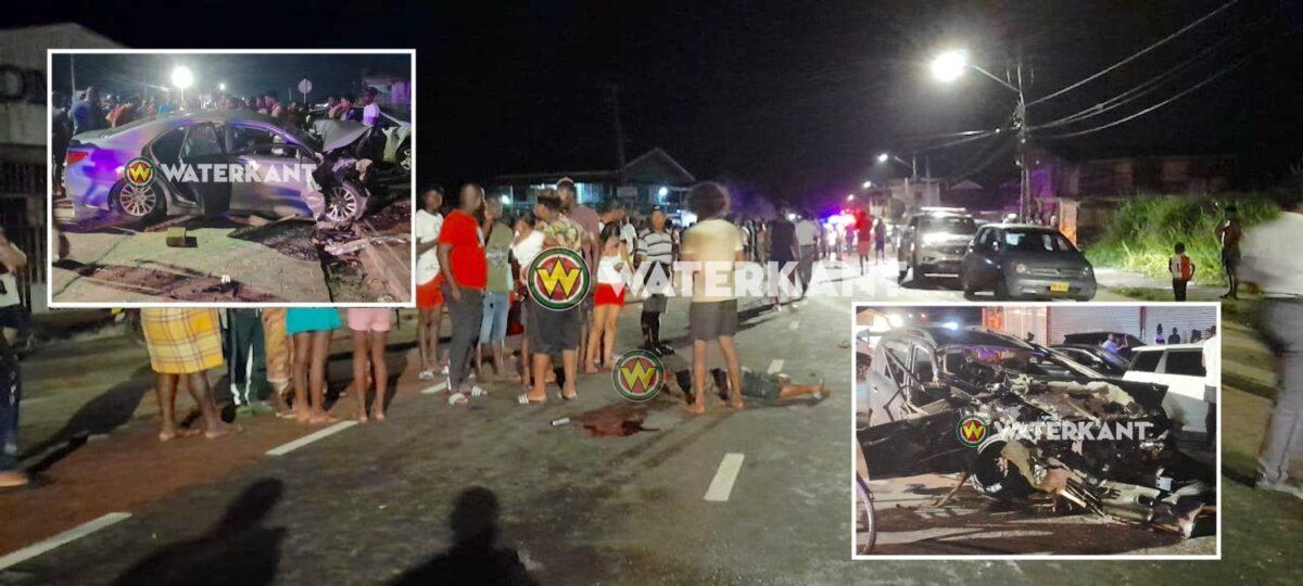 Dode en gewonden bij zware aanrijding Nieuw Weergevondenweg