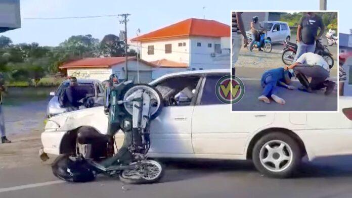 Automobilist sloeg af en verleende geen voorrang aan bromfietser; rijbewijs ingevorderd