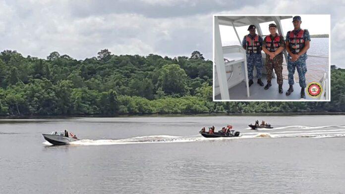 Legerdelegatie Brazilië onder de indruk van demonstratie Surinaamse Marine