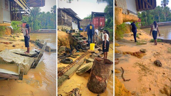 DNA-lid vraagt aandacht voor landerosie bij dorpen Marowijnerivier