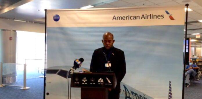 VIDEO: Ceremonie eerste vlucht American Airlines naar Suriname op Miami Airport