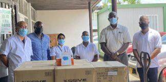 12.000 mondkapjes voor St. Vincentius Ziekenhuis in Suriname