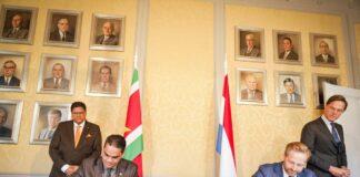Suriname en Nederland intensiveren samenwerking; tekenen overeenkomsten