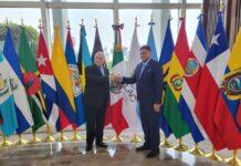 President Santokhi gearriveerd in Mexico