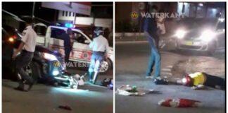Dronken echtpaar met kind op brom botst tegen auto na inhaalactie