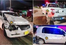 Mark X bestuurder zonder rijbewijs ramt personenauto en prowagen