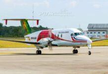 Vliegtuig Trans Guyana Airways in Suriname