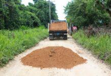 Zandwegen Saramacca worden bezand