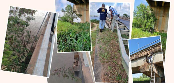 OW verricht schoonmaakwerkzaamheden aan Bosjebrug