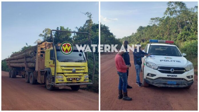 Truck met lading hout in beslag genomen bij politiecontrole
